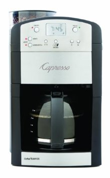 Capresso Digital Coffeemaker with Conical Burr Grinder and Glass Carafe